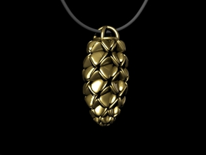 Pinecone Pendant in White Strong & Flexible