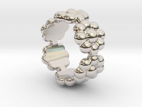 New Flower Ring 21 - Italian Size 21 in Platinum