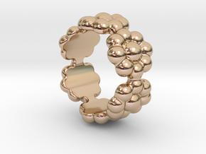 New Flower Ring 21 - Italian Size 21 in 14k Rose Gold Plated Brass