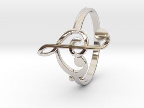 Size 6 Clefs Ring in Platinum