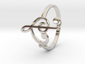 Size 11 Clefs Ring in Platinum