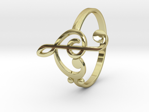 Size 11 Clefs Ring in 18k Gold Plated