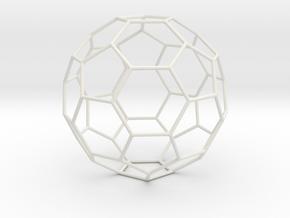 0473 Truncated Icosahedron E (16.0 см) #006 in White Natural Versatile Plastic