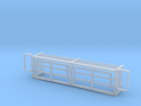 1/24 SCALE ABRAMS M1A2 BUSTLE RACK EXTENSION in Smooth Fine Detail Plastic