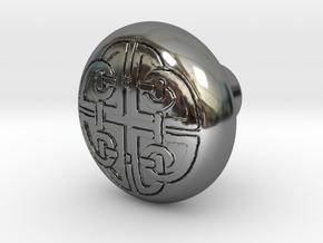 DORADO door knob in Fine Detail Polished Silver