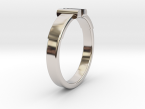 Back To The Future Ring Ø20.2 mm/Ø0.795 inch in Rhodium Plated Brass