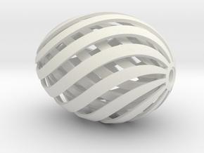 Egg Spiral V3 Thicker Innner Egg in White Natural Versatile Plastic