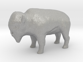 Miniature Bison in Aluminum