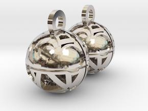 Craters of Iapetus Earrings in Platinum