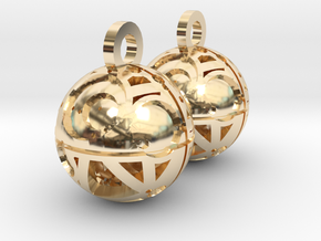 Craters of Iapetus Earrings in 14k Gold Plated Brass