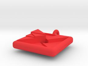 trigon varia pendant in Red Processed Versatile Plastic