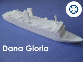 MS Dana Gloria (1:1200) in White Natural Versatile Plastic: 1:1200