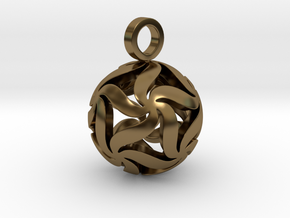 Star Ball Floral (Pendant Size) in Polished Bronze