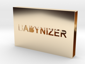 a Card Case Part 1 in 14k Gold Plated Brass
