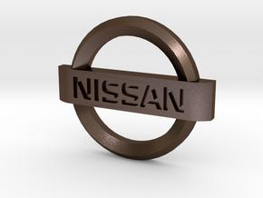 Nissan Flipkey Logo Badge Emblem in Polished Bronze Steel
