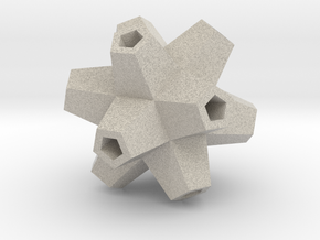 Urchin Polyhedron Pendant in Natural Sandstone