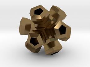 Cauliflower Polyhedron Pendant in Polished Bronze