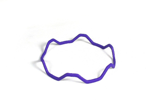 Dilly Stackable Bracelet in Purple Strong & Flexible Polished