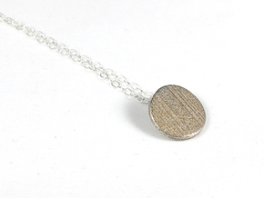 Fingerprint Pendent  in Polished Bronzed Silver Steel