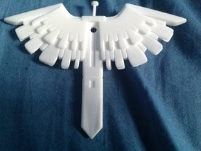 Wing Blade  in White Natural Versatile Plastic