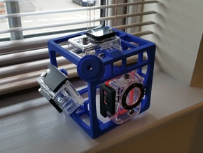 Brahma Waterproof Rig for 360 video with Xiaomi Yi in Blue Processed Versatile Plastic