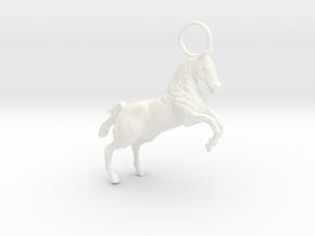 Horse Earring/Pendant in White Processed Versatile Plastic
