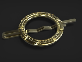 Stargate Tie clip in Polished Brass
