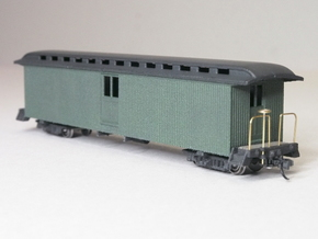 HOn30 40ft Baggage Car D in White Natural Versatile Plastic