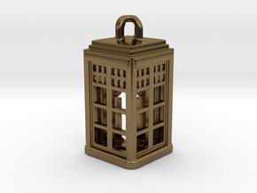 Tardis Lantern 2: Tritium (All Materials) in Polished Bronze