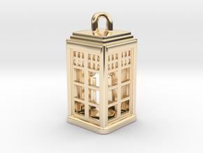 Tardis Lantern 2: Tritium (All Materials) in 14k Gold Plated Brass