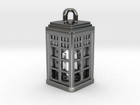 Tardis Lantern 2: Tritium (All Materials) in Fine Detail Polished Silver