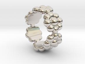 New Flower Ring 23 - Italian Size 23 in Platinum