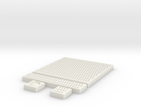 SciFi Tile 22 - Diamond Grating in White Strong & Flexible