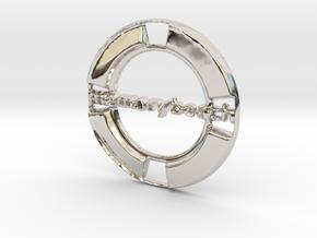 MemoryBeach Pendant in Platinum