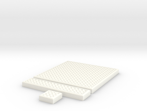 SciFi Tile 25 - Mesh Grating in White Processed Versatile Plastic