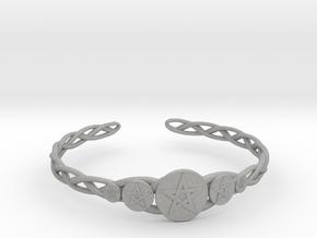 "Celtic Knot Pentacle Cuff Bracelet (2.5"" diameter) in Aluminum"