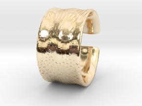 Flowercut2 in 14k Gold Plated Brass