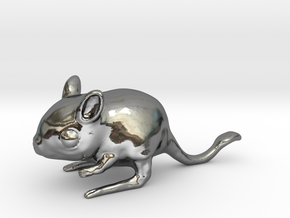 Jerboa in Fine Detail Polished Silver