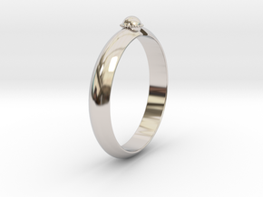 Ø18.19 mm /Ø0.716 inch Arrow Ring Style 2 in Rhodium Plated Brass