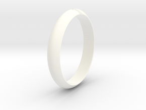 Ø18.19 mm /Ø0.716 inch Arrow Ring Style 1 in White Processed Versatile Plastic