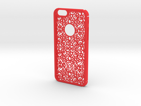 Arabesque 2 in Red Processed Versatile Plastic