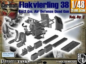 1-48 Flakvierling 38 in Smooth Fine Detail Plastic