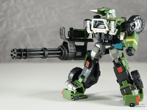 Transformers CHUG Minigun in White Natural Versatile Plastic