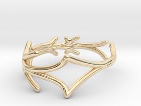 Lucifer Smile Ring (Size 4.5--14.8mm dia)R S1 0103 in 14k Gold Plated Brass