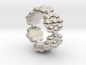 New Flower Ring 25 - Italian Size 25 in Platinum