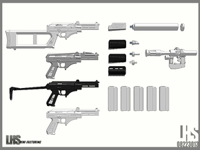 1/6 scale Russian VSK-94 9A91 All Variants set in White Natural Versatile Plastic