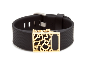 Positive Charge slide for Fitbit Charge & HR in 14K Yellow Gold