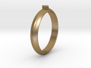Ø18.19 Mm Design Special Arrow Ring/Ø0.716 inch in Polished Gold Steel