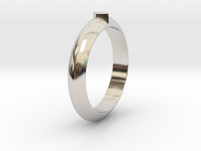 Ø18.35 Mm Functional Ring Style 1 Ø0.722 Inch in Rhodium Plated Brass