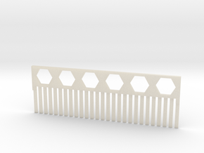 Acrylamide Gel Comb in White Acrylic